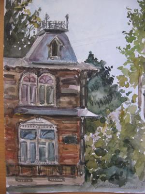 Рыбинский дворик (Из архива детской художественной школы)