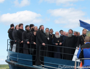 Молебен на Рыбинском море 16 июня 2015 года